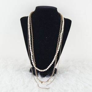 J. Crew | Gold & Pearl Multi Strain Necklace